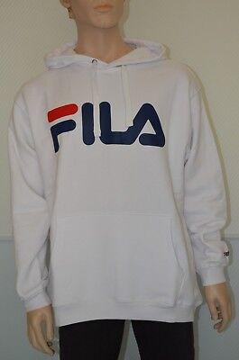 Fila Classic Logo Hoody, Sweatshirt , bright white, verschiedene Größen Classic Logo Hoody