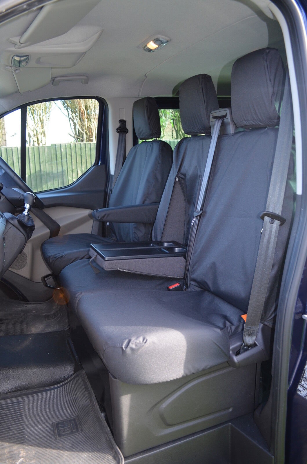 Black Van Seat Covers protectors 100/% WATERPROOF FORD TRANSIT TIPPER VAN