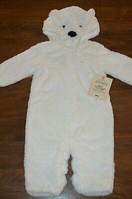 Pottery Barn Kids Baby Polar Bear Halloween Costume 6-12 Months NEW Faux Fur](Baby Polar Bear Costume)
