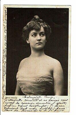 """CPA-Carte postale- Belgique - Photograhie d'une jeune Dame """"Blanc""""-1901-VM4629"""