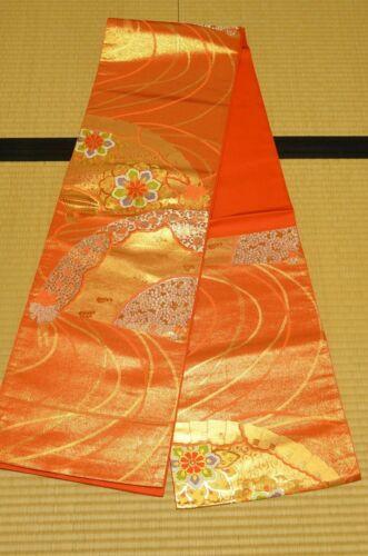 Silk Fukuro Obi 428cm Long belt for kimono Women Japanese vintage sash /805