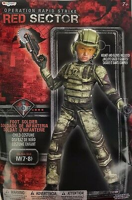 Operation Raid Strike Red Sector Foot Soldier Costume Boys Medium 7-8 Halloween](Foot Soldier Costume)