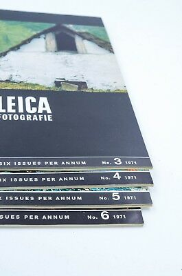 Vintage 1971 Lot of 4 Leica Photography Magazines Issues #3 #4 #5 #6