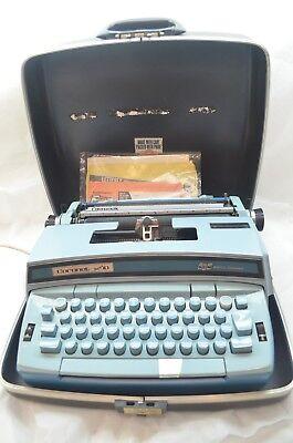 Vintage Smith Corona Eléctricos Máquina de Escribir Súper 10 Portátil Estuche