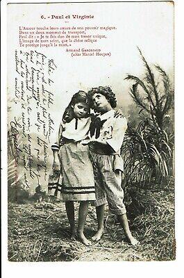 CPA-Carte postale Belgique-Paul et Virginie-Un garçon avec une fillette-1903