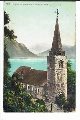 CPA - Carte postale -SUISSE - Montreux - Son Eglise -1912- S483
