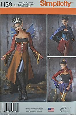 Simplicity 1138 -Misses' Elf Princess- Halloween/ Renaissance Costumes Pattern - Halloween Costumes Patterns