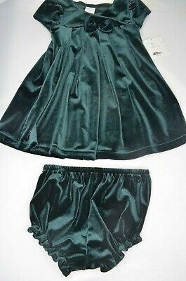 SALE! STARTING OUT Girls 18 Month, Green Velvet CHRISTMAS Dress w/ Bottom, NWT](Girls Winter Clothes Sale)