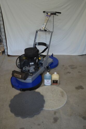 """Phoenix Titan Twin 24"""" floor buffers and cleaners under 600 Hrs FREE PADS/FLUID"""