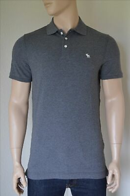 """Abercrombie & Fitch AF Stretch Polo Gray  """"Large"""", used for sale  Shipping to India"""