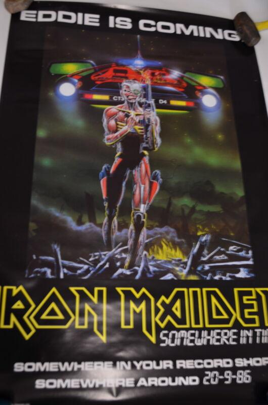 IRON MAIDEN, Eddie is Coming, Original Advance Poster