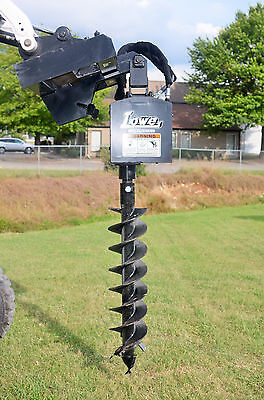 Lowe 750 Hex Auger Drive Digger With 9 Wide Bit Fits Skid Steer Quick Attach