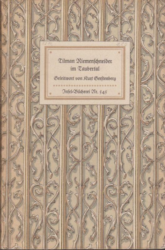 IB 545(1C) - Tilman Riemenschneider im Taubertal (48 Bildtafeln)   1952