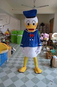 Hot Donald Duck Mascot Costume Halloween Fancy Dress Free Shipping Adult Size