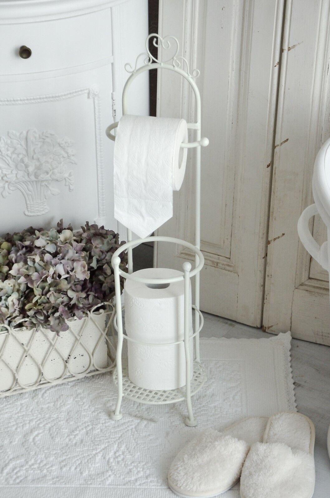 Toilettenpapierhalter WC Rollenhalter Toilettenpapierständer Shabby Chic