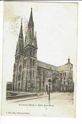 CPA - Carte postale - FRANCE - Châlons-sur-Marne Eglise Notre Dame-1904 -  S2151