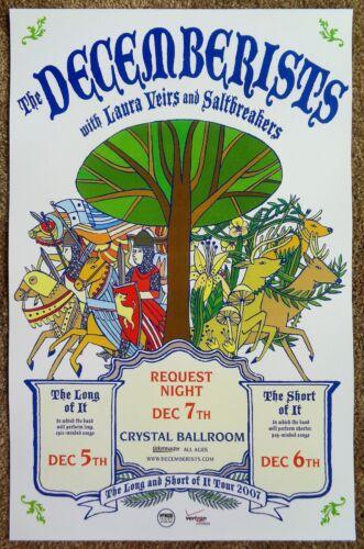 THE DECEMBERISTS 2007 Gig POSTER Portland Oregon Concert