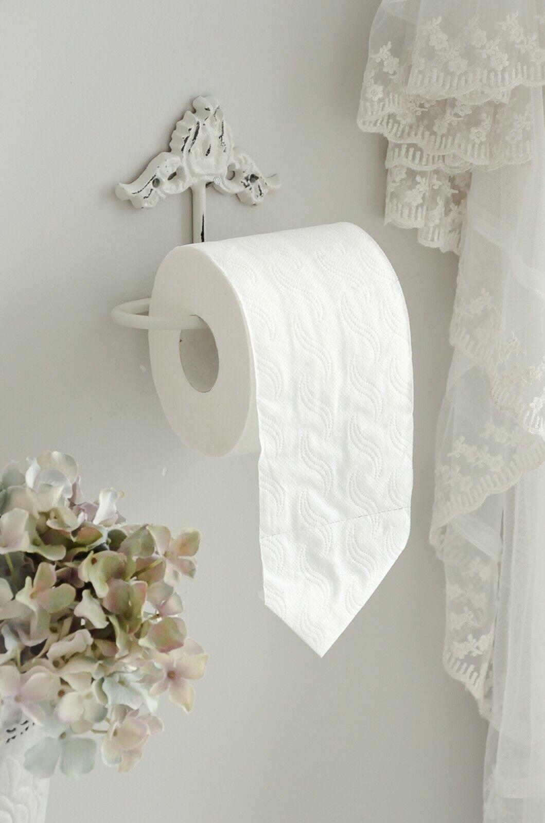 WC Rollenhalter Toilettenpapierhalter Toilettenrollenhalter Wand Shabby Chic