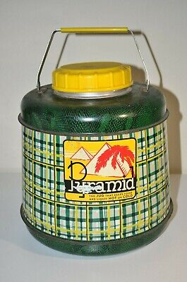 Vintage Pyramid Insulated Hot/Cold Thermos Porcelain JUG Mid-Century Gallon