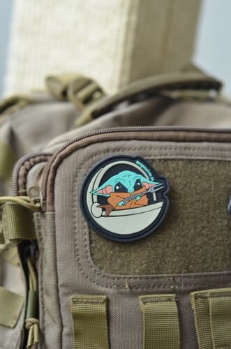 The Child Baby Yoda Mandalorian PVC Hook & Loop Tactical Morale Patch NEW