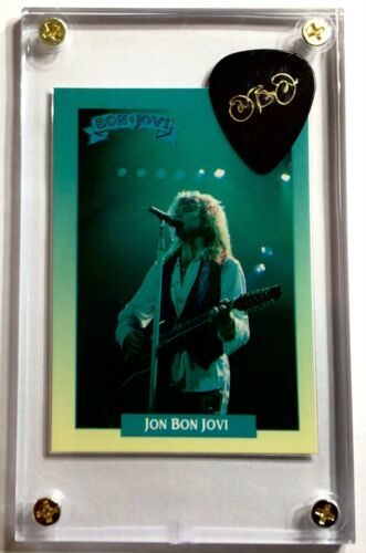 * Price drop* Jon Bon Jovi 2011 tour guitar pick / Rockstar card #220 display!!!
