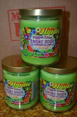 Hippie Love Smoke Odor Exterminator 13 oz Jar Candle {3 PACK}  Odor Exterminator Candle