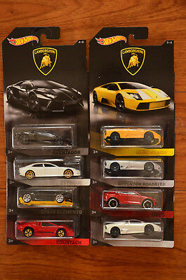 NEW Hot Wheels Lamborghini Collectors Series -Collect Them All 1-8
