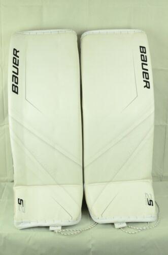 Bauer Supreme 2S Pro Senior Goalie Leg Pads Size Small White (0810-090-D)