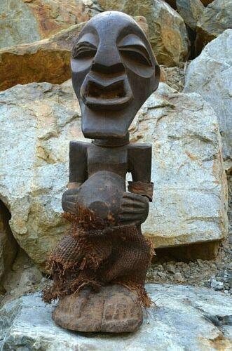 Antique African Songye Power Fetish Statue Nkishi Figure Congo, Africa