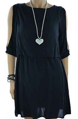 Vero Moda Luftiges Sommerkleid offene Ärmel Damen Kleid Mini Schwarz 34-42 NEU