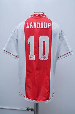 AJAX AMSTERDAM 1999/2000 HOME FOOTBALL SHIRT JERSEY MAGLIA UMBRO LAUDRUP #10 image