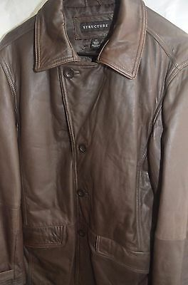 Structure 4-Button Soft Leather Coat Size Small