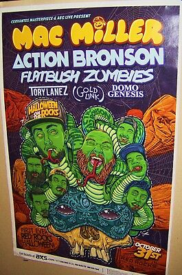 MAC MILLER in Concert Show Poster Denver Co HALLOWEEN at RED ROCKS Action Jackso - Halloween Denver Concerts
