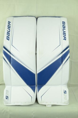 Bauer Supreme S29 Goalie Leg Pads Senior Size Small White/Royal (0810-0099-D)