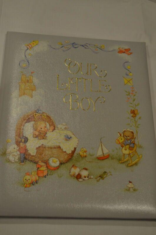 """Vintage Hallmark Baby Book """"Our Little Boy"""" Keepsake Album NEW"""