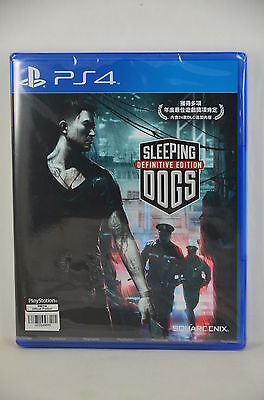 NEW PS4 Sleeping Dogs Definitive Edition HD (HK CHINESE) -Dispatch IIMMEDIATELY