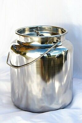 15 Qt Stainless Steel Milk Can Tote Brand New Seamless For Goat Cow Or Sheep