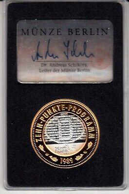 AV-VD Medaille 25 Jahre Deutsche Einheit Zehn Punkte Programm 999 Silber