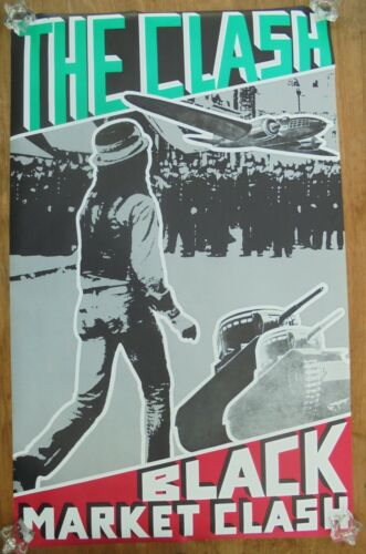THE CLASH  -  BLACK MARKET CLASH  -  ORIGINAL ROCK PROMO POSTER (1980)