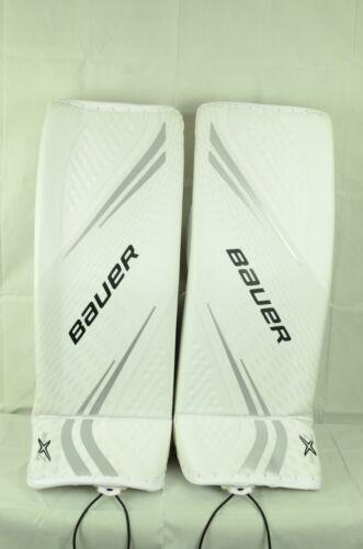 BAUER VAPOR 2X PRO GOALIE LEG PADS SENIOR SIZE SMALL WHITE/SILVER (0810-090-D)