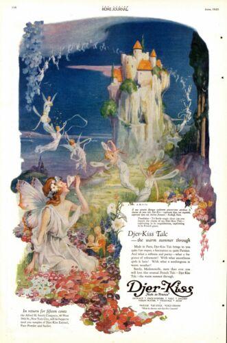 Djer Kiss  -  Talc  -  Fairies  -   by C. F. Neagle  -  Arty  - 1920 Antique Ad