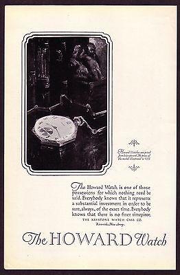 1920s Original Vintage Keystone Howard Pocket Watch Art Print Ad b