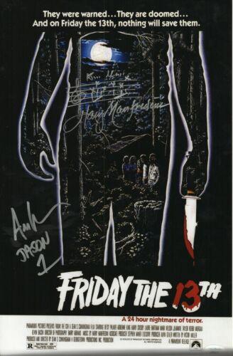 Ari Lehman Harry Manfredini Signed 11x17 Photo - Friday the 13th (JSA COA)