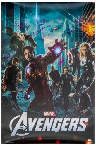 Avengers Cast & Stan Lee Signed Poster Celeb Auth COAs