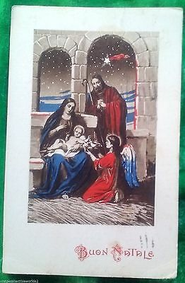 BUON NATALE Vintage Italy Christmas Postcard Posted ()