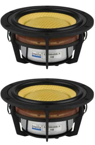 "PAIR (2 drivers) Dynavox LW5004HR-N 5-1/4"" Honeycomb Cone Woofers"