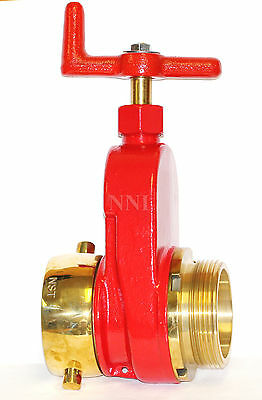 Nni 2-12 Nst Nh Fire Hydrant Hose Gate Valve Polished Brass Trim
