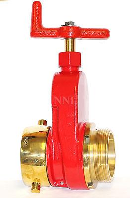 Nni 2-12 Nst Nh Fire Hydrant Hose Gate Valve Polished Brass Trim