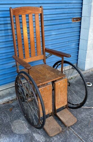 Haunted Vintage Antique Wheelchair from Shuttered Psychiatric Hospital - Caution