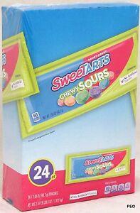 Sweetarts Chewy Sours Candy 24 Ct Box Pouches Bulk Sweet Tarts Shockers 2.47 lb